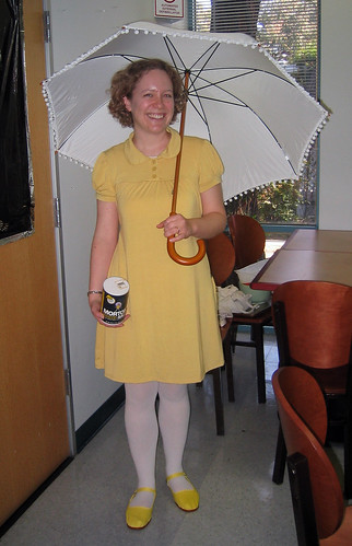 Caitlin as the Morton Salt Girl