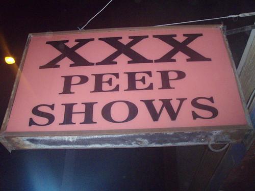 XXX Peep Show -- pink xxx show peep fsod sign adult edmonton