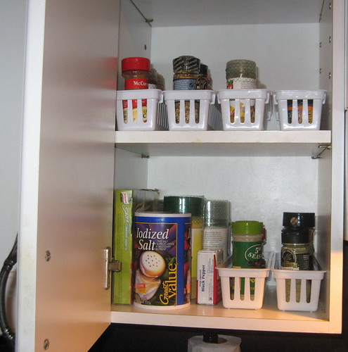 Newly Organized Spice Cabinet
