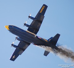 Fat Albert using JATO (FullMetalJackett) Tags: blue us airport nikon texas fort aircraft fat military albert navy airshow angels worth marines rockets blueangels c130 alliance fatalbert hurcules usmarines militaryaircraft jato allianceairshow d80 fortworthtx usnavyblueangels allianceairport 2007fullmetaljackettphotography 2007allianceairshow c130hurcules