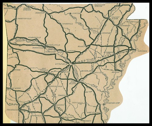 Arkansas Transportation History Map