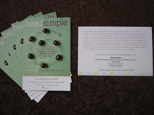 Bead Simple postcards