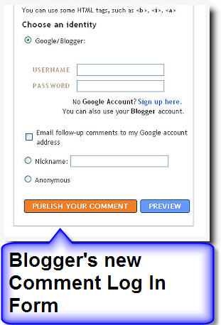 Blogger New Comment Section