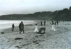 wedding party - carmel beach CA (james_cronan@sbcglobal.net) Tags: leica beach jupiter8 black38white