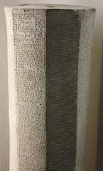 Cuneiform Prism (Woesinger) Tags: berlin museum prism clay tablet cuneiform pergamon assyrian