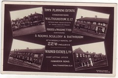 22 '6 (Dan K ) Tags: uk london history ebay postcard warner housing e17 walthamstow scullery warnerestate