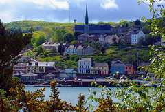 (part of) Crosshaven village, Co. Cork, Ireland (silyld) Tags: ireland houses irish sunlight house church buildings river cork scenary corcaigh rcyc crosshaven blueribbonwinner royalcorkyachtclub planeteye corkweek top20ireland curabinnywoods owenabue