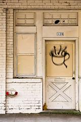 Anti-Starbucks (LukeOlsen) Tags: door usa brick coffee oregon portland graffiti tea firehydrant 128 lukeolsen