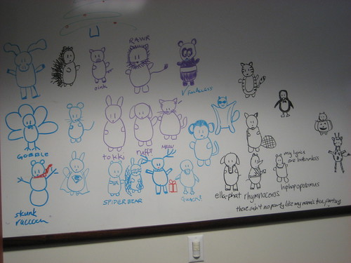 Critter babies I drew on Alex's board