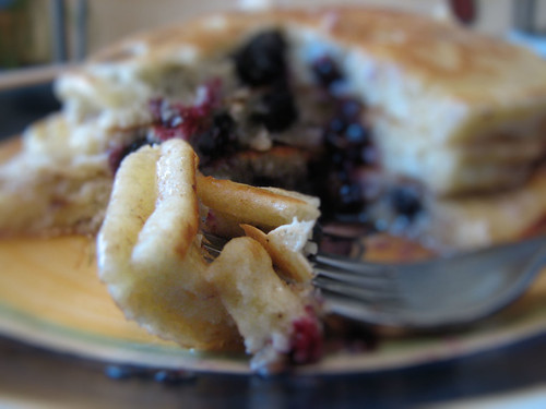 Kelly's Blueberry Mascarpone Pancakes