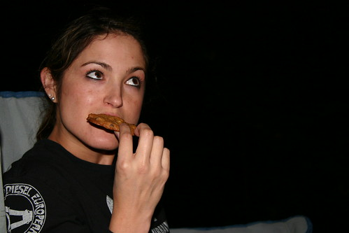 Jessa enjoys a cookie