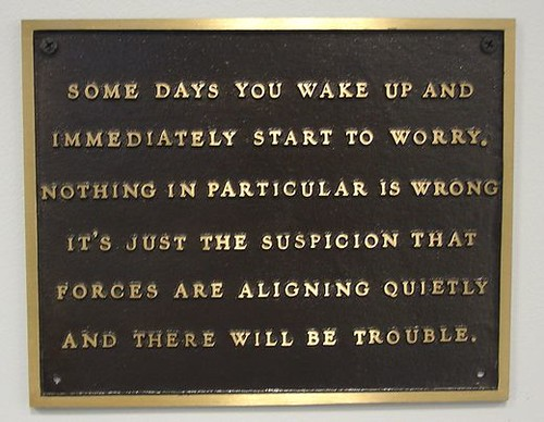 Plaque--aligning quietly