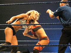 Michelle McCool vs. Victoria (Sir Awesome) Tags: tour michelle victoria perth dome wwe burswood mccool summerslam
