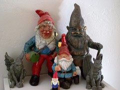 My Gnome and Gargoyle Collection (ThePirateGnome) Tags: oscar gnome gargoyle kipper sven norm griffon hobble