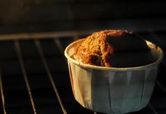 Sponge Cake Mixture in Oven: The Crusty Crack-over