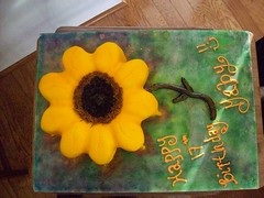 Sunflower Cake (TabbyCake) Tags: birthday cakes yellow gaby tabby sunflower spellbound