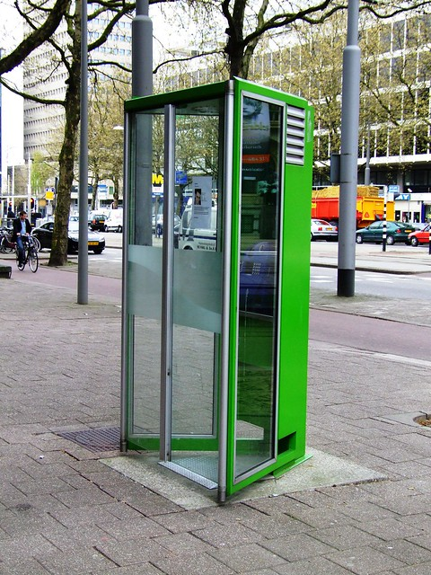 Rotterdam - green phone box