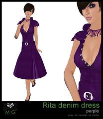 [MG fashion] Rita denim dress (purple)