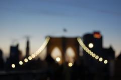 Brooklyn bridge in the night
