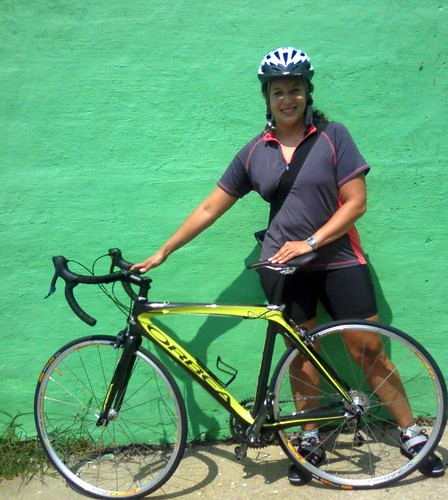 Melanie and her Orbea Diva!