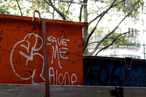 Tuesday: Graffiti on a truck