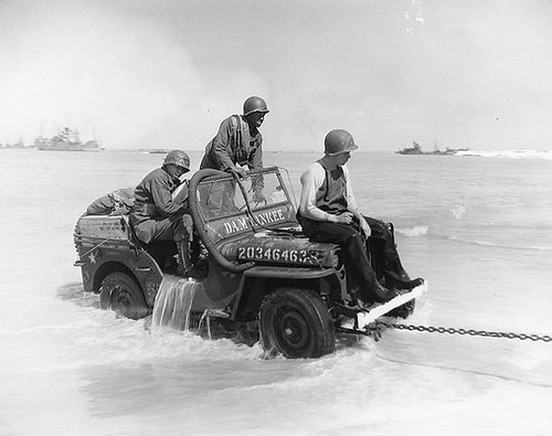 Towed Jeep Normandy 1944 by lee.ekstrom