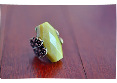 Yellow ASOS Ring