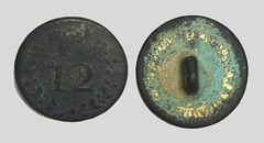 Button 12th Regiment of Foot (East Suffolk) 1782-1855 (Ks Ed) Tags: uk england metal foot military norfolk historic button detector historical dug artifact 12th find artefact relic regiment excavated detecting