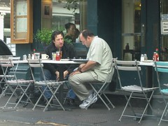 Furio and Tony at an Outdoor Cafe (buff_wannabe) Tags: movie star james cafe outdoor tony tribeca sopranos castelluccio furio gandolfini giunta fredericco