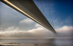 Your Clouded Judgement (duncmc) Tags: bridge cloud fog river humberbridge humber riverhumber