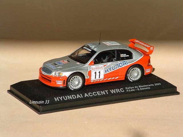 model wrc hyundai accent toycar rallye diecast smeets ixo loix rallyemontecarlo 43ème