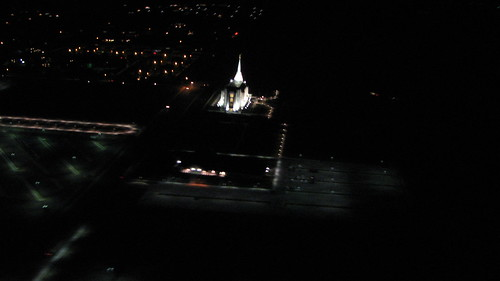 Arial View of Rexburg at NIght