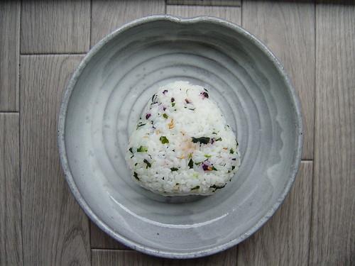 homemade umeboshi onigiri
