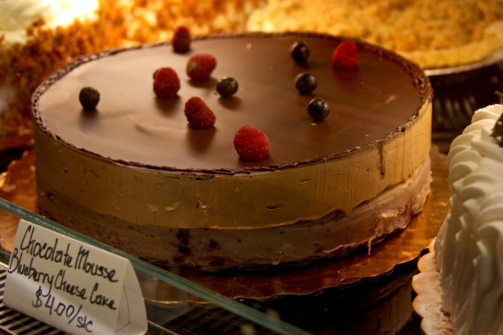 Chocolate Mousse Blueberry Cheesecake