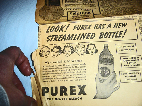 "PUREX ! NEW STREAMLINED BOTTLE ""PUREX ! NEW STREAMLINED BOTTLE"""