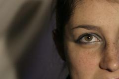 All eyez on me (EiaOlaf) Tags: light portrait italy color green eye face olaf experiment makeup  eia