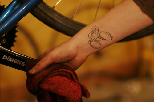Rachel's Bicycle Tattoo