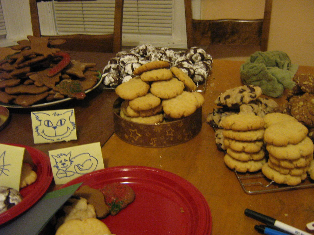 cookie bake-a-thon at the CatHaus
