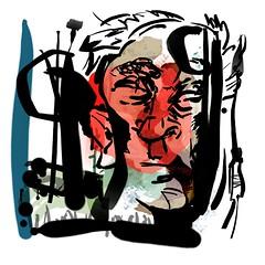 the head in the forest at night (liam.jon_d) Tags: billdoyle graphic drawing artwork head forest night calligraphy brush strokes bamboo tablet photoshop eyewashdesign square art popular 500 100 billartwork pickmeset mostinterestingimset popularimset
