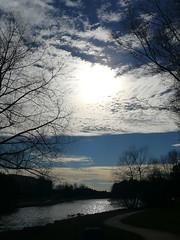 Johns Creek at Twilight (WinPins) Tags: sunset sky lake water silhouette clouds twilight pond path ducks trail thumbsup photofaceoffwinner photofaceoffplatinum likeitornotwinner pfogold pfoplatinum thumbsupwinner mar08pfobrackets