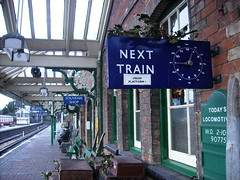Mince Pie Express - Sheringham (Pete Sturman) Tags: station norfolk railway holly steam locomotive buffet sheringham cases stationmaster platform1 nexttrain