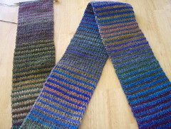 Noro-ish striped scarf