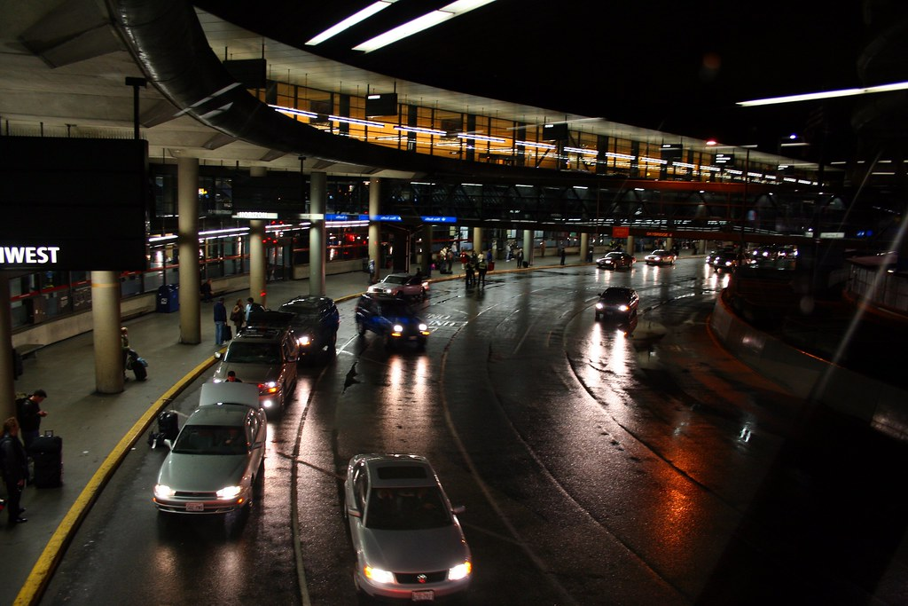 Rainy Night Airport
