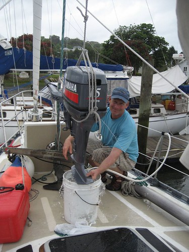 cleaning outboard for storage