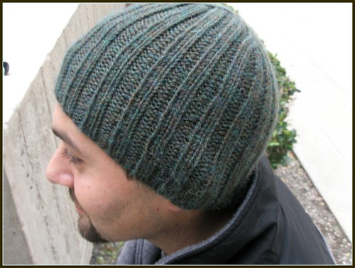 Ribbed hat side view