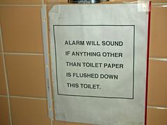 Toilet Alarm (Lazuli) Tags: alarm sign toilet