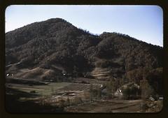 A mountain farm along the Skyline Drive in Vir...