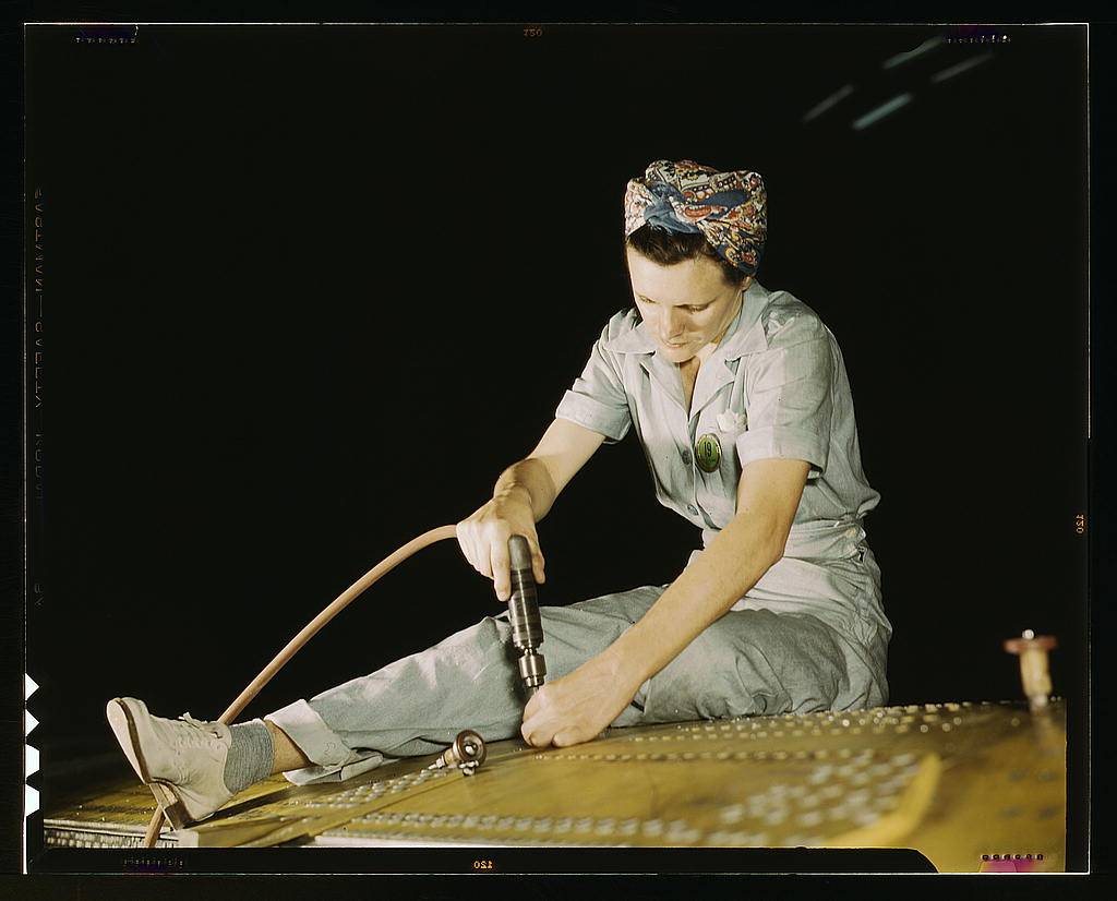 Drilling on a Liberator Bomber, Consolidated Aircraft Corp., Fort Worth, Texas (LOC)