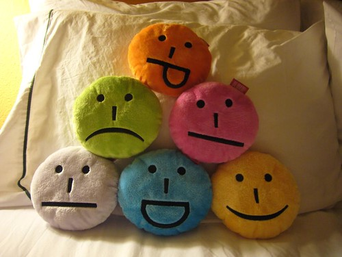emoticon pillows!