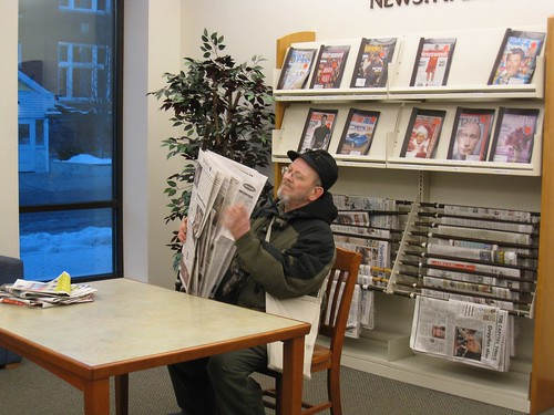 Dad reading the paper